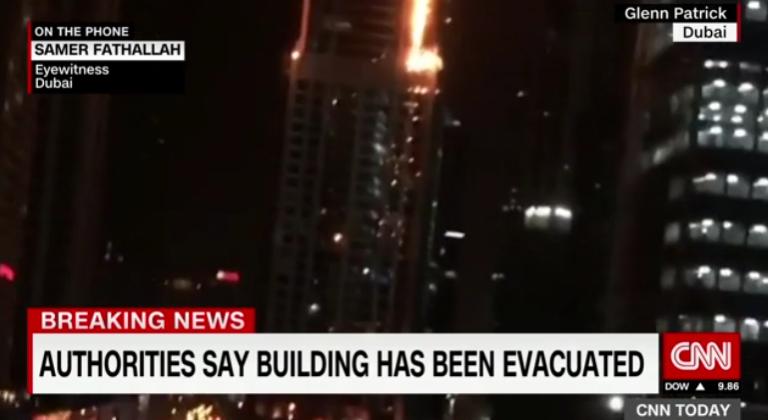 Lángokban áll a világ egyik legnagyobb lakóépülete