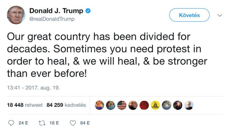 Trump tweetjei a bostoni felvonulókhoz