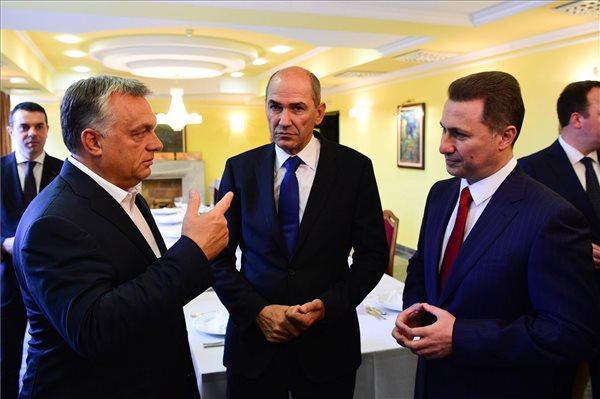 Orbán levitézlett délszláv ellenzéki vezetőkkel találkozott Ohridban