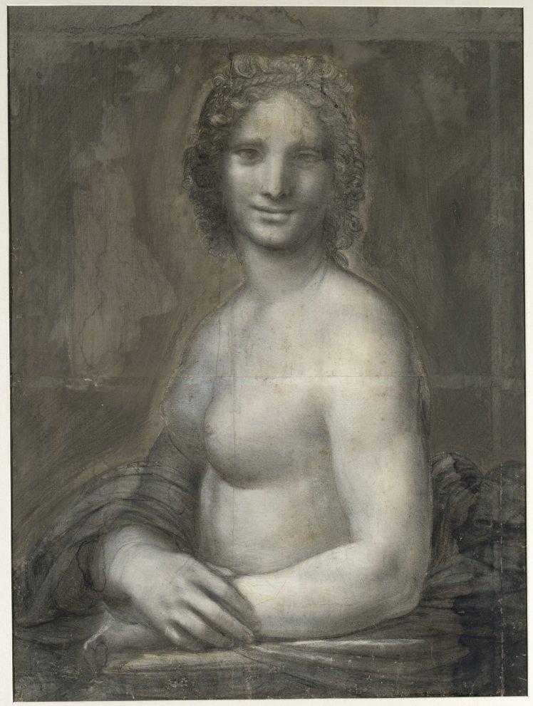 Meztelen Mona Lisát találhattak egy francia gyűjteményben