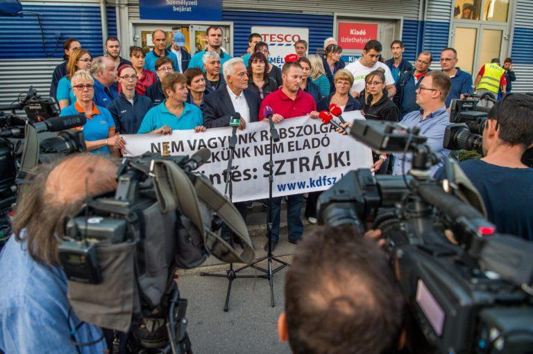 Tesco-sztrájk – egyelőre nyugalom van