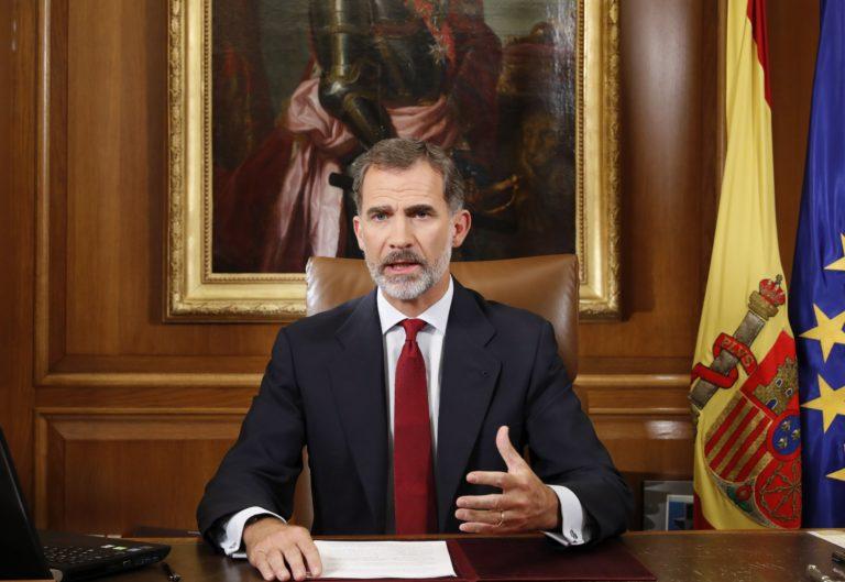 Spanyol király: törvénytelen volt a katalán népszavazás