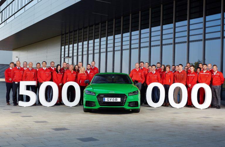 Elkészült az ötszázezredik magyar Audi