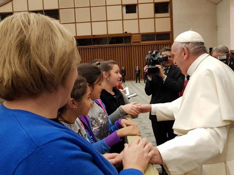 A pápával találkozott az Igazgyöngy Alapítvány vezetője