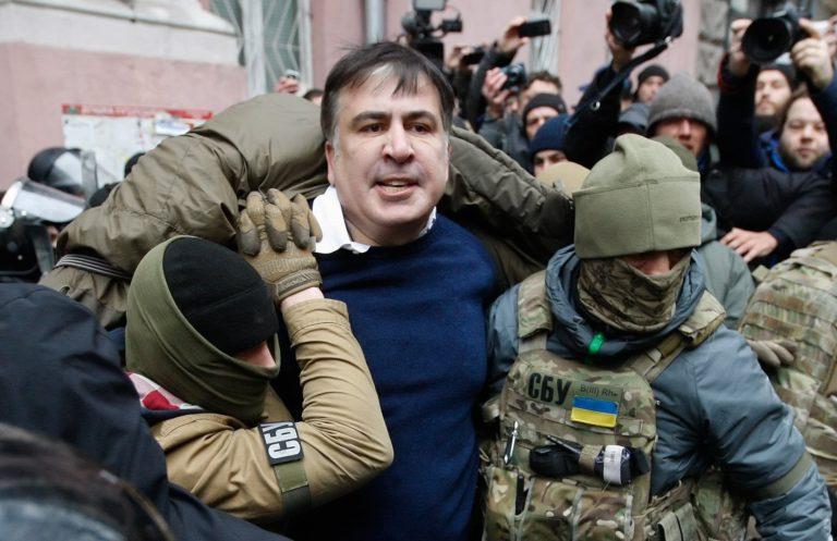 Étteremben fogták el az egykori grúz elnököt