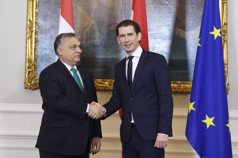 A menekültek kérdésében egyetért Kurz és Orbán, több másban nem