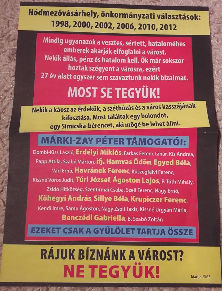 Márki-Zay: Már csak fizetett aktivisták kampányolnak a Fidesz mellett
