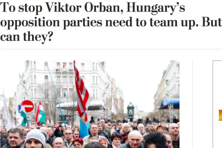 Washington Post: Orbán megállításához az ellenzék csapatmunkája kellene. De képes-e rá?