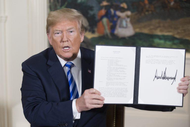 EU -iráni megállapodás Trump ellen