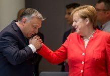 Orbán, Merkel