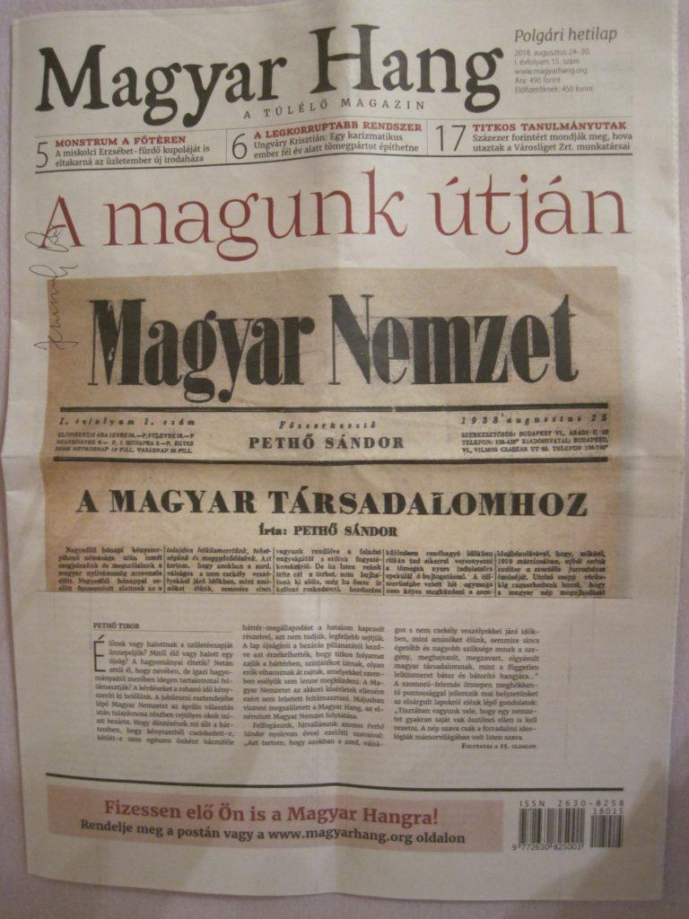 A Magyar Nemzetre emlékeztek