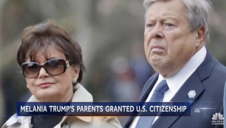 Trump apósa és anyósa USA állampolgár lett