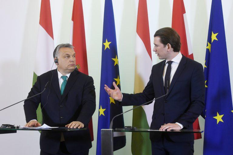 Az osztrák kancellár is Orbán ellen fordult
