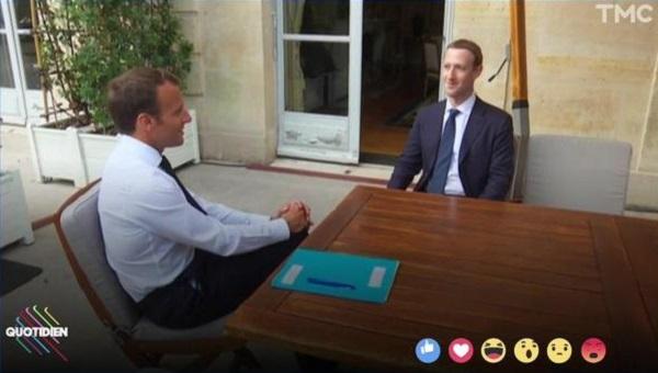 Macron és Zuckerberg