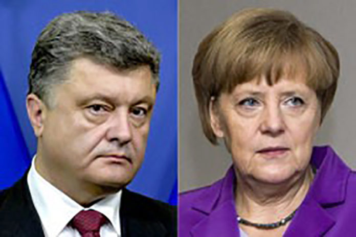 Porosenko és Merkel