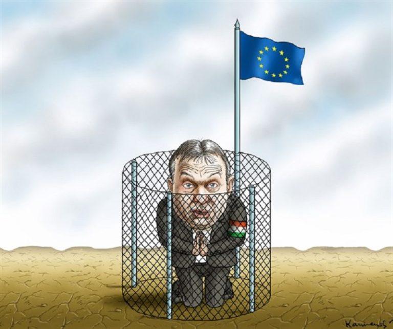 Kurz a medencében – Orbán a medence szélén
