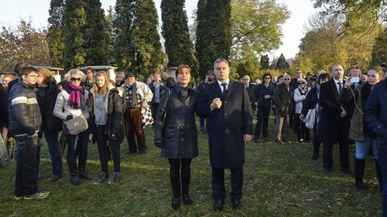 Az Orbán házaspár Göncz Árpád temetésén