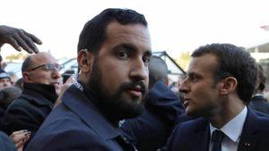 Alexandre Benalla, itt még Macron testőreként