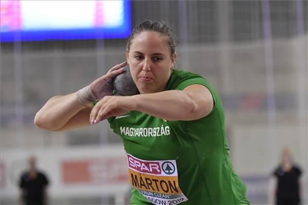 Márton Anita bronzérmes súlylökésben