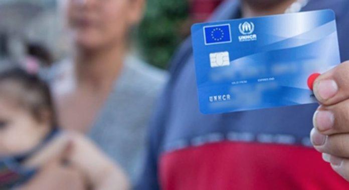 menekültek bankkártyája