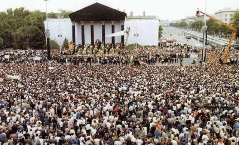 Mécs Imre beszéde Nagy Imre és mártírtársai újratemetésén a Hősök terén – 1989. június 16.