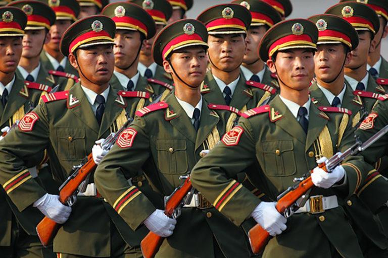 Kínai katonák Bajorországban
