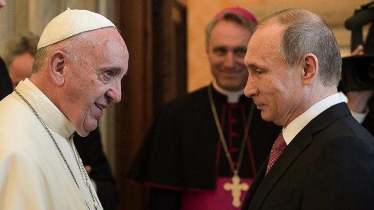 Putyin a pápánál