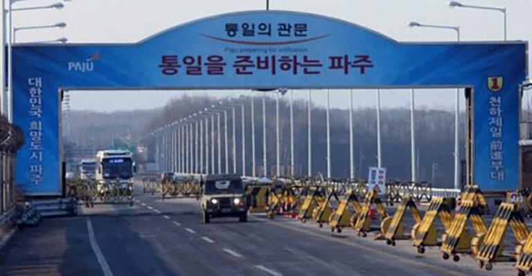 Szimbolikus robbantás a két Korea határán