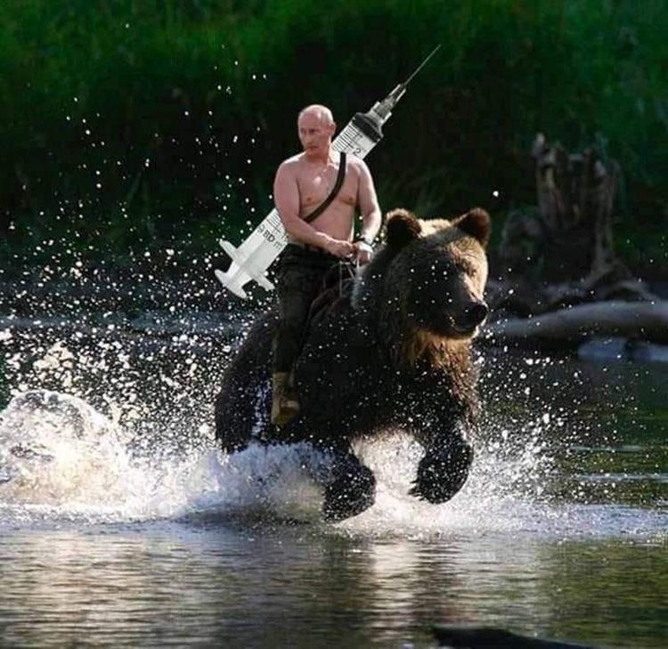 Putyinnak fáj a karja a védőoltás után